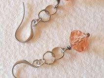 Ohrringe, rosa Kristalle, silber ohringe