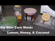 DIY Skin Care Mask To Get an Skin Tone: Lemon, Honey, & Coconut Oil ♡