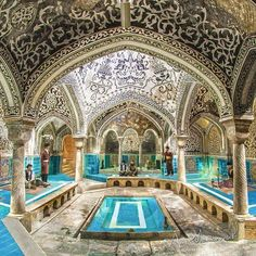 "The historic ""Haj Agha Torab Bath"" from Qajar period, Nahavand, Hamadan, Iran… Persian Architecture, Beautiful Architecture, Art And Architecture, Places To Travel, Places To Go, Travel Destinations, Visit Iran, Iran Travel, Persian Culture"