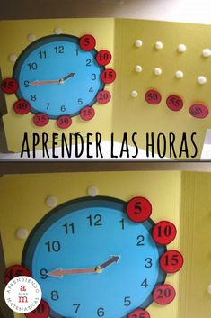 [HORAS] Idea fantástica y divertida para que ellos mismos creen un material para aprender las horas jugando y manipulando el reloj que construirán.
