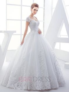 Ericdress High Quality Appliques Beading Sweetheart Ball Gown Wedding Dress 1