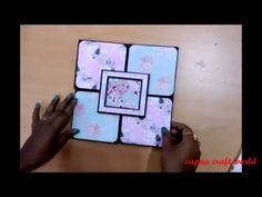 album scrapbook tutorial part 1 Scrapbook Cover, Papel Scrapbook, Birthday Scrapbook, Mini Scrapbook Albums, Scrapbook Cards, Scrapbook For Best Friend, Cuento Pop Up, Diy Exploding Box, Tarjetas Pop Up