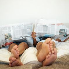 read the Sunday Times with you in bed