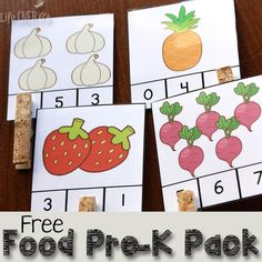 Have fun with healthy foods with these free printables for preschoolers! Lots of fun, hands-on activities!