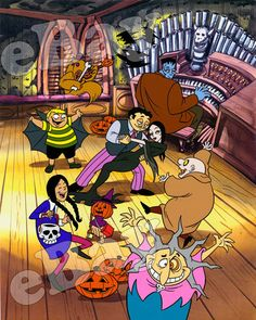 THE ADDAMS FAMILY Cartoon Color Photo HANNA BARBERA Studios