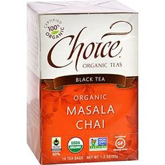 Choice ORGANIC TEAS Masala Chai, 1.15-Pound (Pack of 6) ( Value Bulk Multi-pack) *** Click image to review more details. (This is an affiliate link and I receive a commission for the sales)