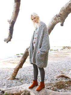 DIY-Anleitung: Oversized Mantel aus Chunky Yarn stricken via DaWanda.com