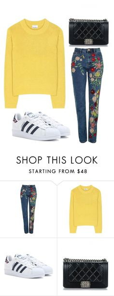 """""""Untitled #354"""" by xjustinv on Polyvore featuring Topshop, Acne Studios, adidas Originals and Chanel"""
