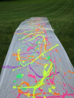 Paint slip & side. Great summer activity! Have everyone wear white clothes.