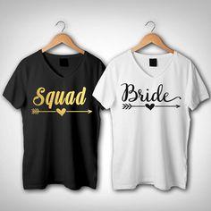 Squad V-Neck Shirts All Colors , Bridesmaid T shirt 103