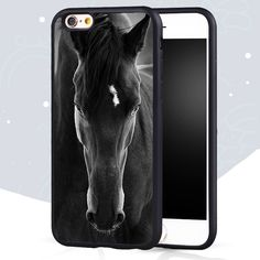 Black Horse Animal Printed Soft Rubber Skin Mobile Phone Cases OEM For iPhone 6 6S Plus 7 7 Plus 5 5S 5C SE 4S Back Cover