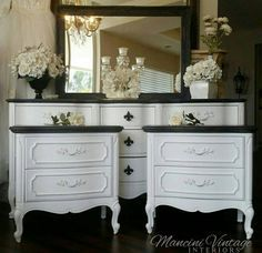 Unavailable...unavailable...French Provincial Glam Boudoir Bedroom Set Black and White Hollywood Paris