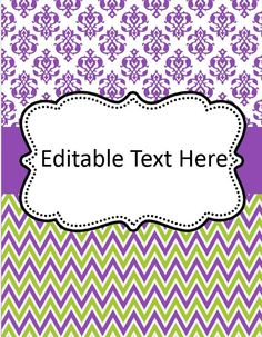 Free Editable Binder Cover