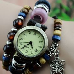 Horloge met vlindertje