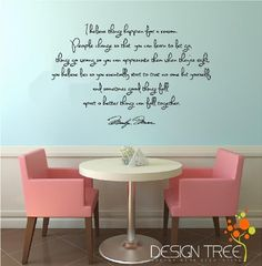 Marilyn Monroe Wall Decals: Marilyn Monroe Wall Decal Decor Quote I Believe things happen...Large Nice ~Matte Black~ by Design Tree. ............ Get Marilyn Monroe Wall Decals at Amazon from Wall Decals Quotes Store