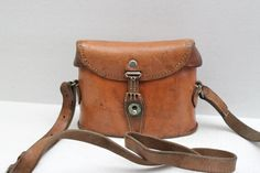 If only it shipped to Canada - Vintage 30s leather binocular case // Swiss Army by RedTuTuRetro, $95.00