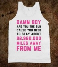 Anti pick up line shirt. Hahaha