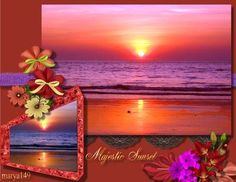 This creation has been altered in Photolab-levels adjusted to achieve main sunset. Orginal sunset is in frame. Created in CraftArtist Professional. Kits: Forget-me-not by Seaside Crafter New Beginnings by Fantasy Moments & Yesterday Gone by Algera Designs Forget Me Not, My Scrapbook, New Beginnings, Seaside, Birds, In This Moment, Fantasy, Sunset, Landscape