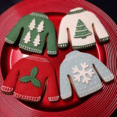 Christmas jumper cookies