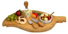 Leaf Cheese Board w/ Dipping Bowl Set