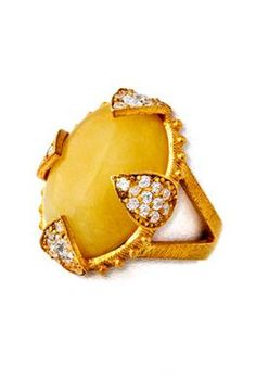Azaara Jade and Cubic Zirconia Ring