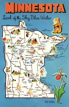 Vintage Postcards Indiana State Map by heritagepostcards on Etsy