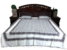 Indian Bedcover Floral Print Indian Inspired Bedspread Coverlet Two Pillow Covers Mogul Interior http://www.amazon.com/dp/B00QUVHF56/ref=cm_sw_r_pi_dp_4CJIub0NXDF86
