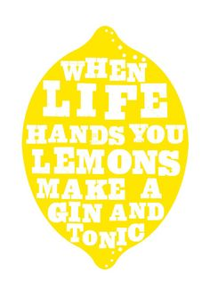#GIN AND #TONIC #POSTER