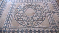 Roman mosaic in Vaison-la-Romaine, Vaucluse, France