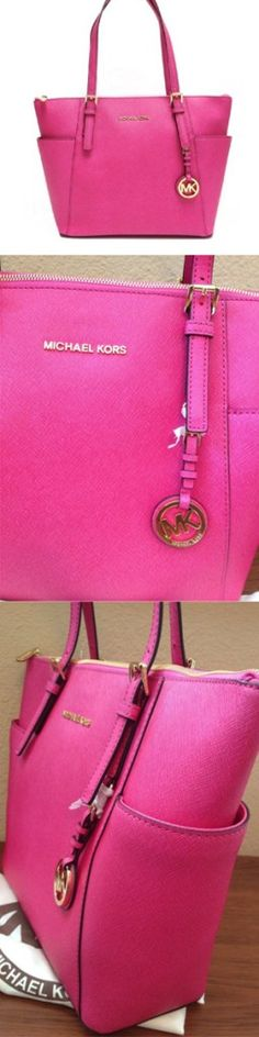 2697ea730dd0 Michael Kors tote in pink, Top-zip in zinnia jet set #designerbags #