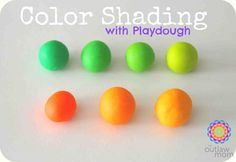 playdough color shading from The Outlaw Mom