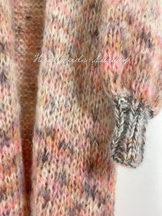 MYPZ-half-long-chunky-mohair-cardigan-Brown-Love-3 Knitting Kits, Knitting Patterns, Cardigans, Sweaters, Knitwear, Brown, Knit Patterns, Tricot, Sweater