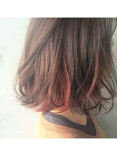 melgina 【メルジーナ】 ◆melgina◆インナーカラー*Red ロブ
