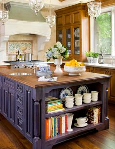 Rustic shabby chic interior design google search for Traditional home great kitchens