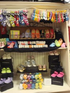 sock display clothesline