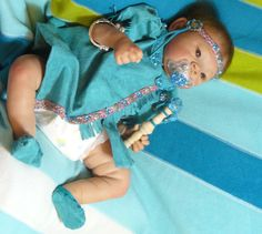 """""""Sitara Sky"""" a doll that I made and sold, wearing the clothes that I designed and sewed for her."""