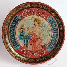 A rare find! This 1897 Coca-Cola serving tray is the first ever produced by The Coca-Cola Company for use at soda fountains. Only a few are known to exist in the world.  World of Coca Cola.
