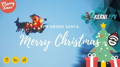 Flying Santa Drone, Santa Claus is coming to town this year with his new flying Santa drone DIY build from me KerniFPV for Santa and for Christmas, flying Sa. Merry Christmas To All, Merry Xmas, Christmas Christmas, Flying Drones, New Drone, Santa Claus Is Coming To Town, Santa Sleigh, All The Way Down, North Pole