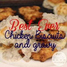 Best ever chicken biscuits and gravy.  The sausage gravy recipe is from Hominy Grill in Charleston, SC.