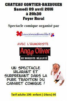 affiche Ange Oliver spectacle comique