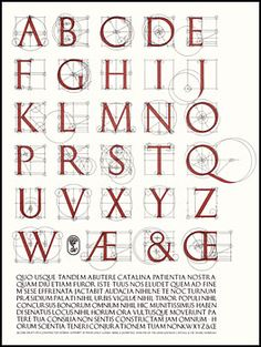 David Lance Goines, 1945- . A Constructed Roman Alphabet: a Geometric Analysis of the Greek and Roman Capitals and of the Arabic Numerals.  Boston: D.R. Godine, 1982 (Lunenburg, Vt.: Stinehour Press).