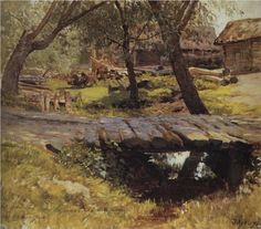 Footbridge. Savvinskaya village. - Isaac Levitan