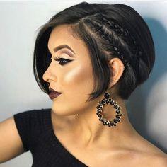 Nice 50 Modern Women Summer Haircuts Ideas More at www. Fixing Short Hair, Very Short Hair, Braids For Short Hair, Short Hair Cuts For Women, Cute Short Haircuts, Girl Haircuts, Hairstyles Haircuts, Pretty Hairstyles, Braided Hairstyles