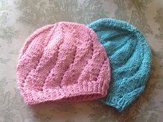 Meadow sweet baby hat. From newborn to 18 mths.