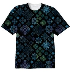 Midnight Snowflakes t-shirt from PAOM...SpiceTree @ Print All Over Me.