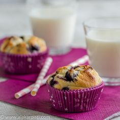 Mustikkamuffinit Alakarpisti.com Alakarpistin kookosjauhomuffinssit Keto, Breakfast, Food, Morning Coffee, Essen, Meals, Yemek, Eten