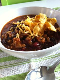 The Art of Comfort Baking: Turkey and Two Bean Chili