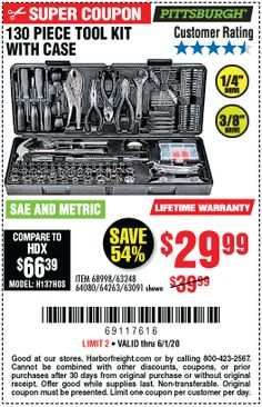 Harbor Freight Coupon, Harbor Freight Tools, Hex Wrench, Socket Set, Tool Kit, Pittsburgh, Coupons, Wood Working, Woodworking