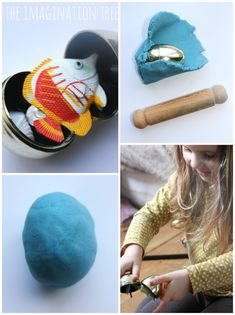 How to make play dough surprise eggs