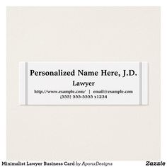 Shop Minimalist Lawyer Business Card created by AponxDesigns. Lawyer Business Card, Business Card Design, Business Cards, Card Designs, Minimalist, Cards Against Humanity, Names, Card Templates, Visit Cards